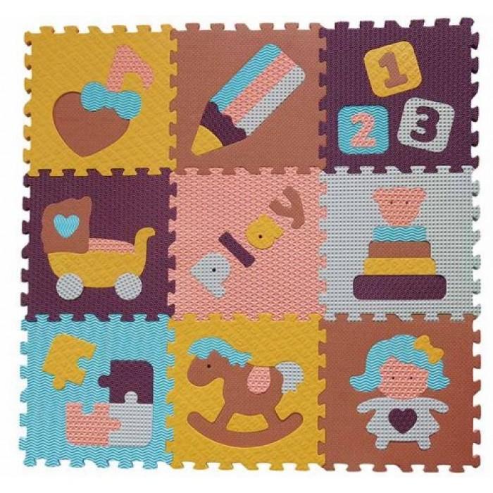Babygreat - Covoras Puzzle Lumea jucariilor