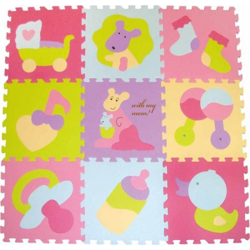Babygreat - Covoras Puzzle Micul Cangur krbaby.ro
