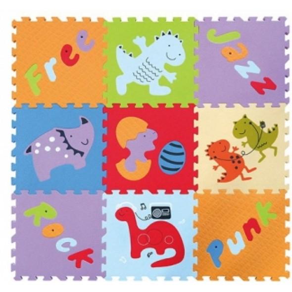 Babygreat -  Covoras Puzzle Lumea Dinozaurilor