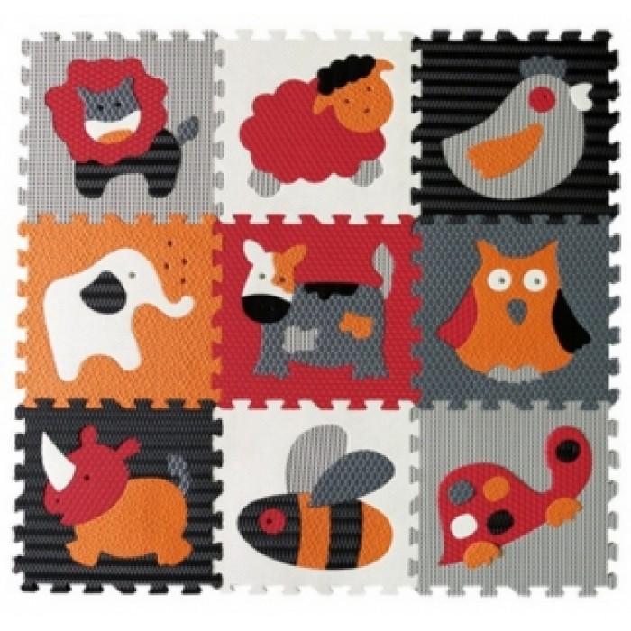 Babygreat -  Covoras de joaca Puzzle Animalute Fericite