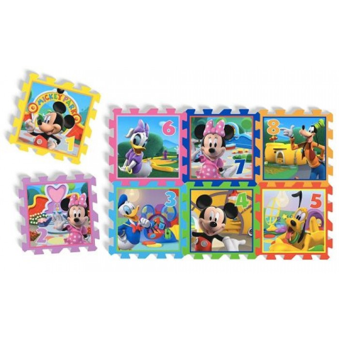 Covoras Puzzle Minnie & Mickey Mouse 8 piese Knorrtoys