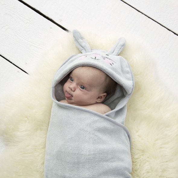 Prosop de infasat dupa baie, Iepurasul Betty, 0 - 6 luni, Gro