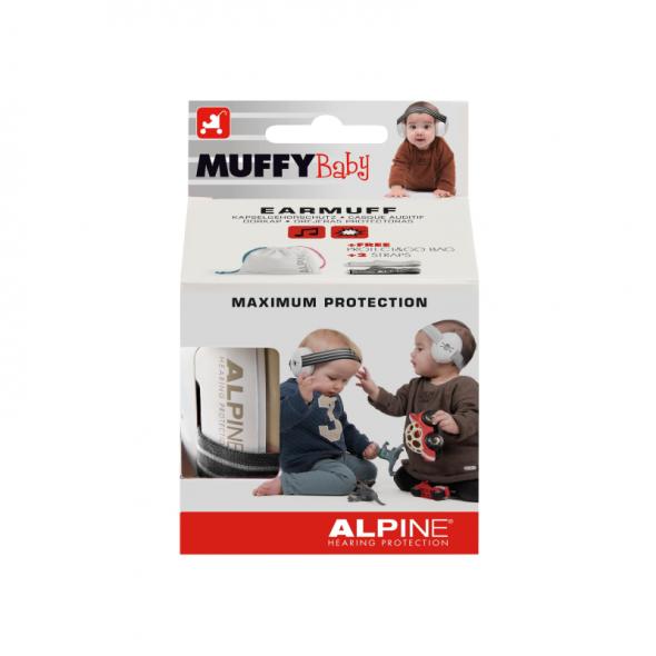 Casti antifonice pentru bebelusi Alpine Muffy Baby Black