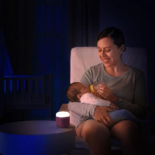 Lampa de veghe 2 in 1 cu LED-uri roz Reer krbaby.ro