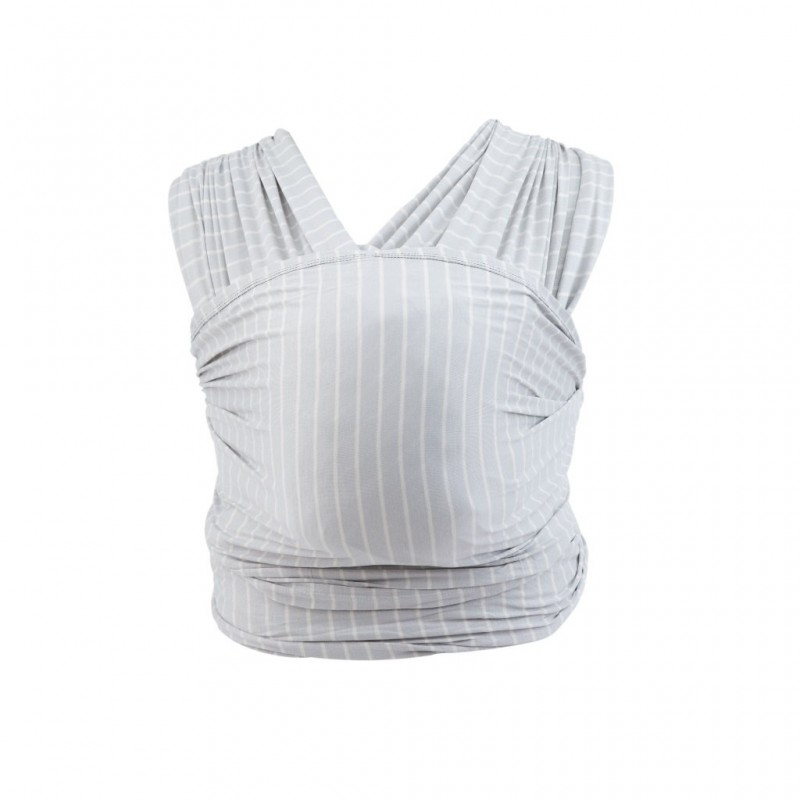 Wrap Aura Pearl Grey Stripes Ergobaby