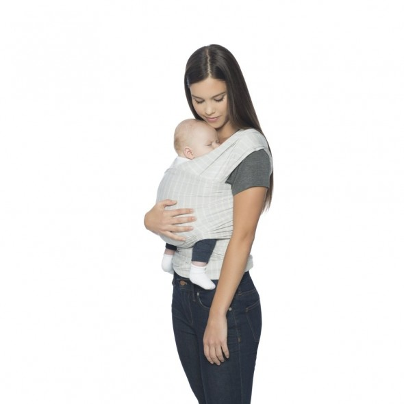 Wrap Aura Pearl Grey Stripes Ergobaby
