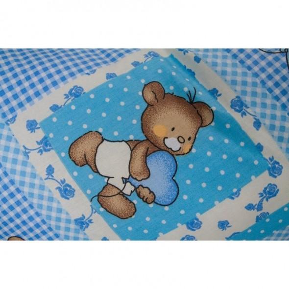 Perna 3 in 1 pentru gravide si bebelusi ursuleti albastri BabyNeeds Soft krbaby.ro