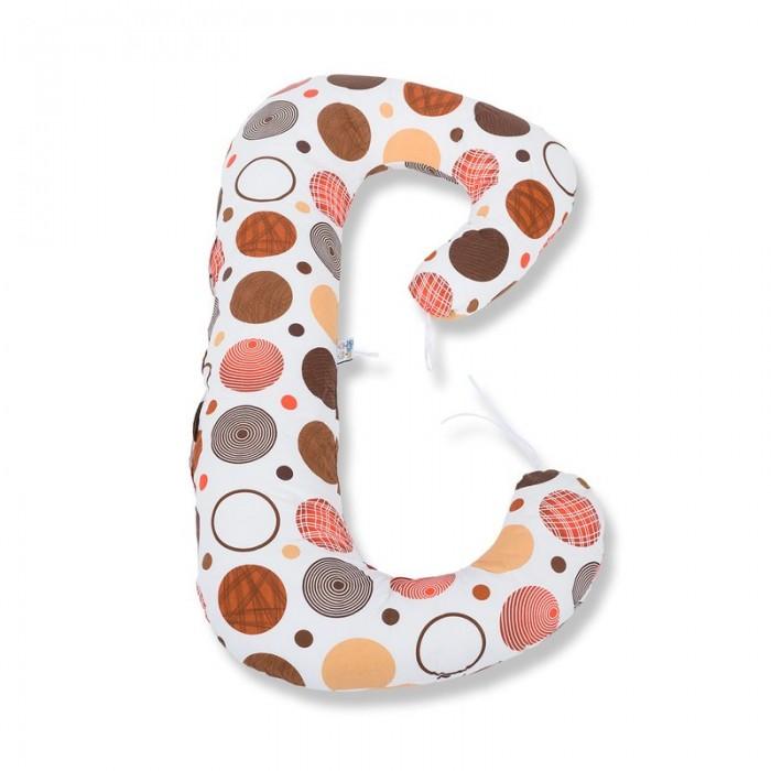 Perna 3 in 1 pentru gravide si bebelusi - cerculete maro BabyNeeds Soft Plus