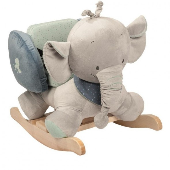 Nattou - Balansoar cu protectii laterale elefantelul Jack