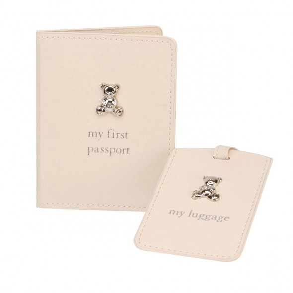 "Bambino by Juliana - Set pentru prima calatorie a bebelusului ""My First Passport and My First Luggage"""