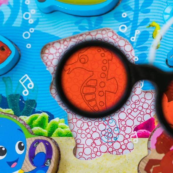 Baby Einstein - Jucarie de lemn Hape Submarine Adventure Puzzle krbaby.ro
