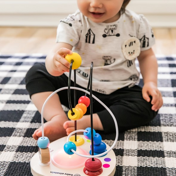 Jucarie cu bile din lemn Baby Einstein Hape Color Mixer krbaby.ro