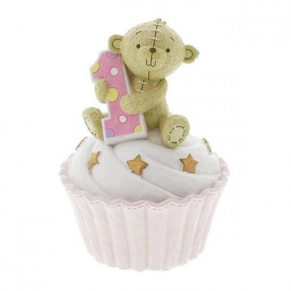 Button Corner - Prima pusculita My First Birthday - pink