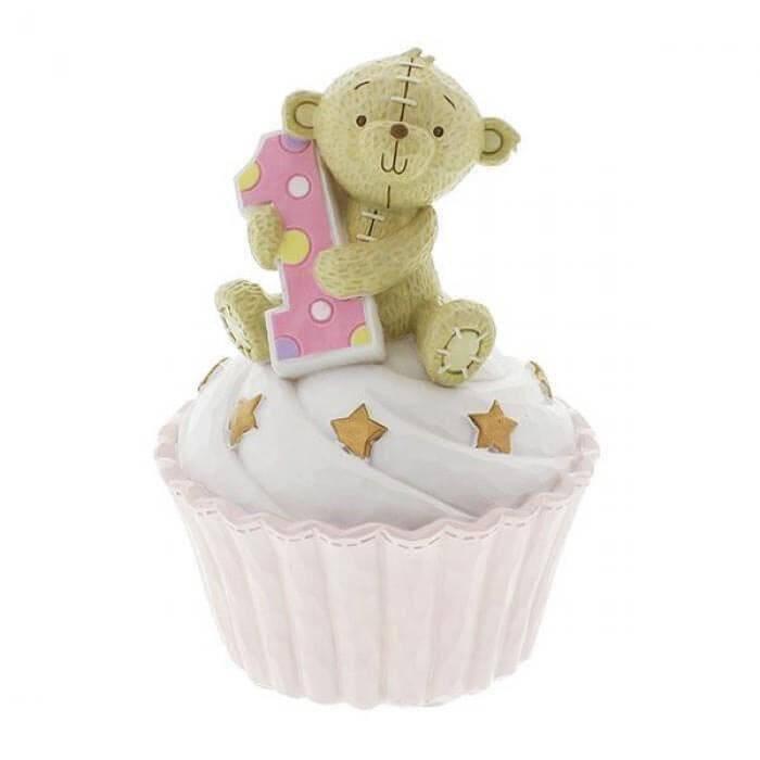 Button Corner - Prima pusculita My First Birthday - pink