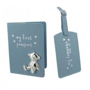 Button Corner - Set pentru prima calatorie a bebelusului My First Passport - blue