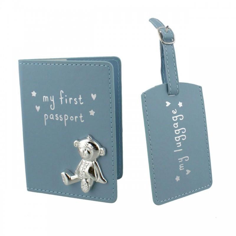 Button Corner - Set pentru prima calatorie a bebelusului My First Passport - blue krbaby.ro