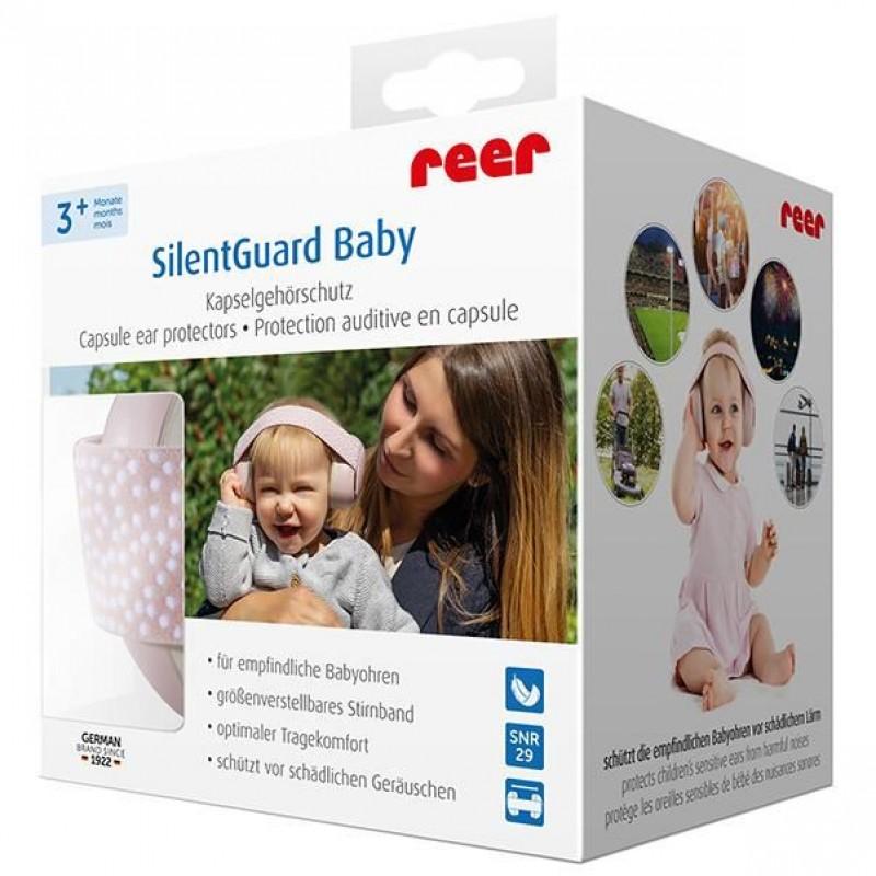 Reer - Casti antifonice pentru bebelusi SilentGuard Baby Girl krbaby.ro