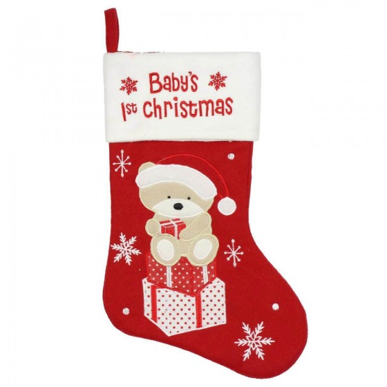 Cizmulita pentru cadouri Baby's First Cristmas