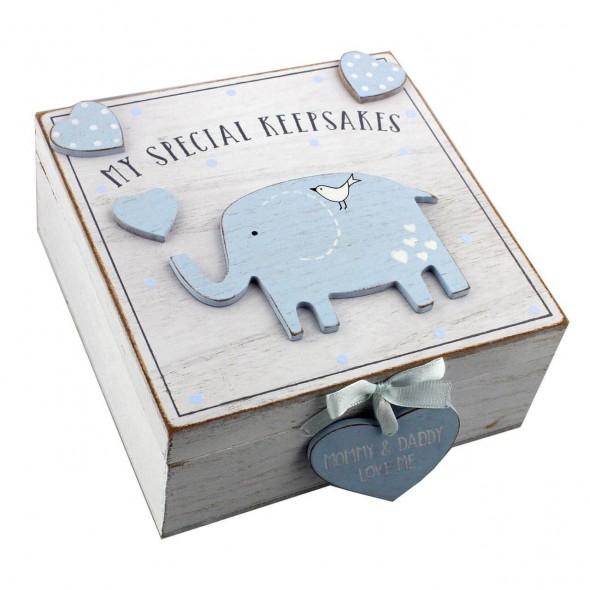 Cutiuta amintiri bleu din MDF  My Special Keepbox