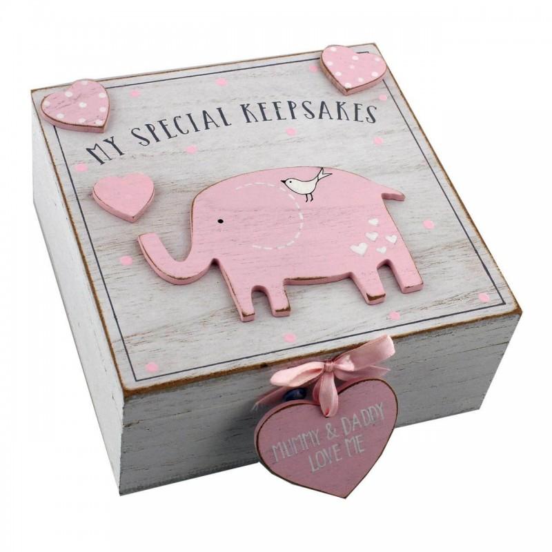 Cutiuta amintiri roz din MDF  My Special Keepbox krbaby.ro