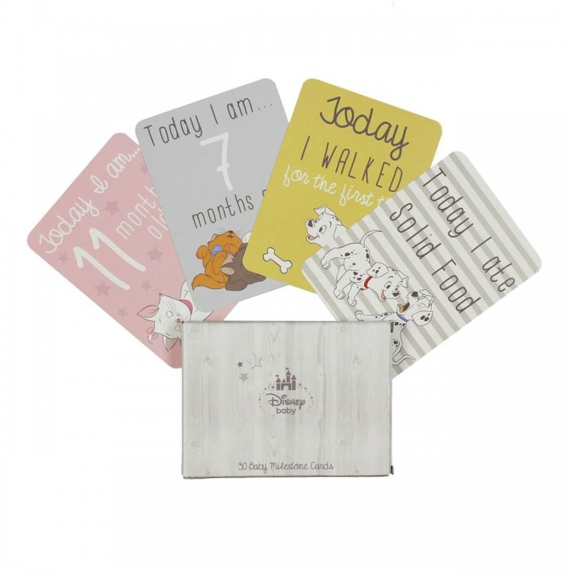Disney Baby - Set cartonase bebelusi cu varsta&primele evenimente krbaby.ro