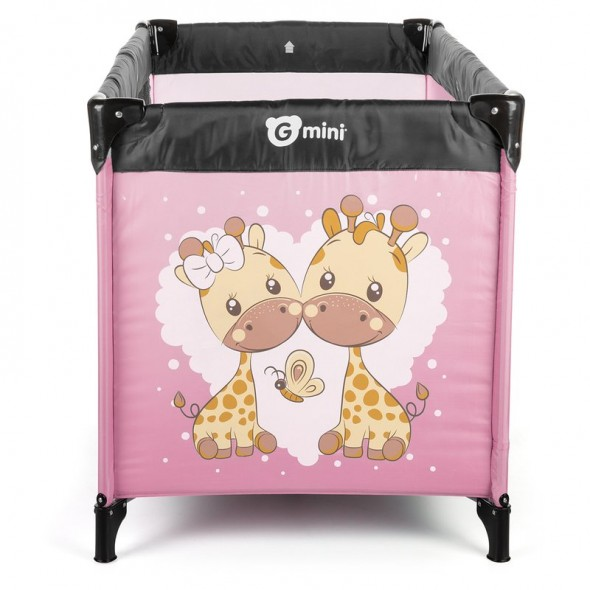 Patut pliant Nyja Giraffe, Pink Gmini