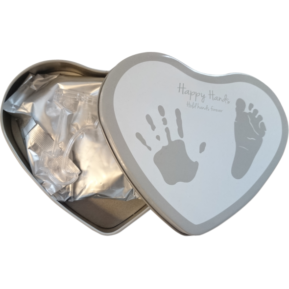 Happy Hands - Cutie in forma de inimioara pentru mulaj manuta sau piciorus krbaby.ro