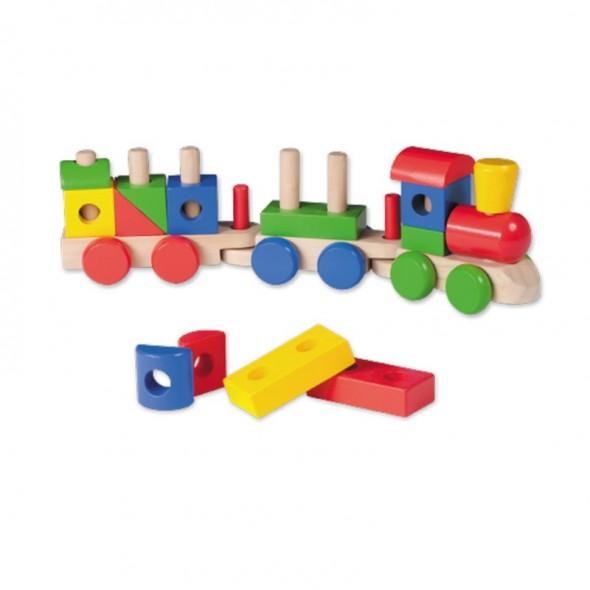 Jucarie din lemn Trenulet Joueco