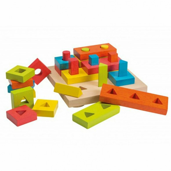 Set de sortare cu forme geometrice Joueco krbaby.ro