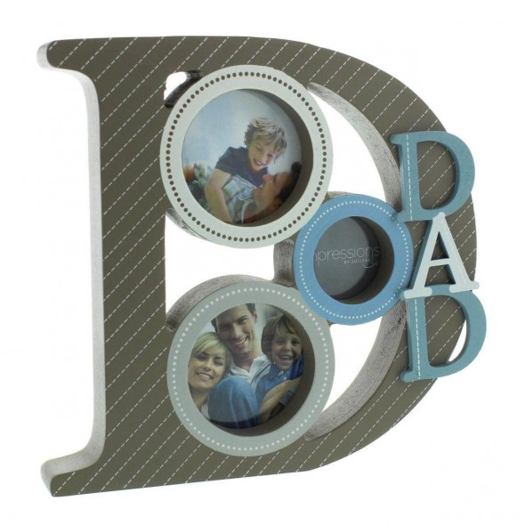 Juliana - Rama foto din lemn cu litere DAD