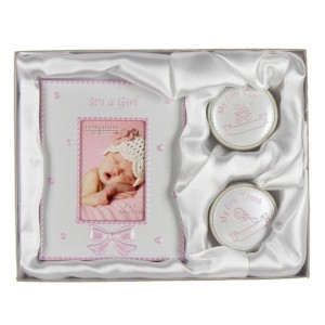 Juliana - Set cadou rama foto, cutiuta prima suvita si cutiuta primul dintisor Pink