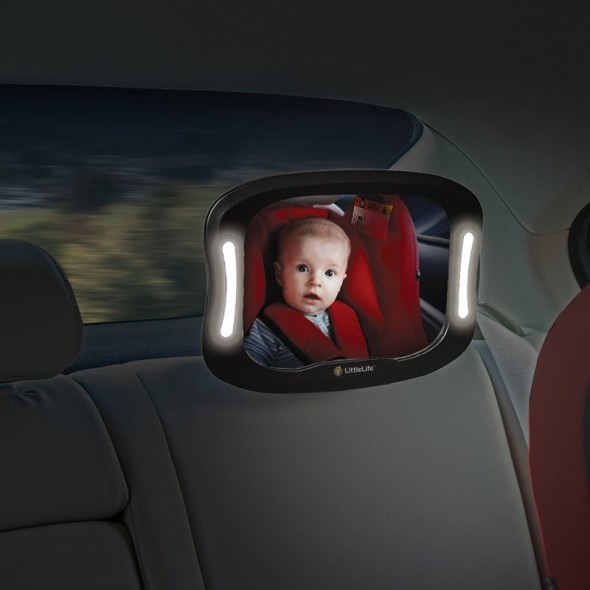 Oglinda auto de supraveghere cu lumina incorporata