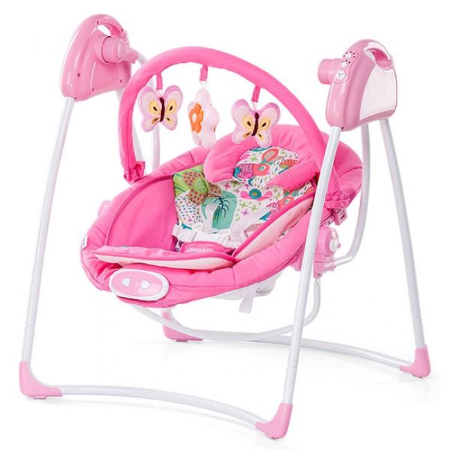 Chipolino Paradise - Leagan electric si balansoar pink