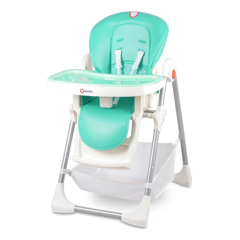 Scaun de masa bebe Lionelo Linn Plus Turquoise