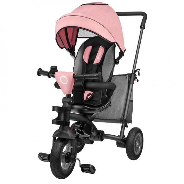 Tricicleta multifunctionala pliabila cu sezut reversibil Tris Candy Rose Grey Lionelo