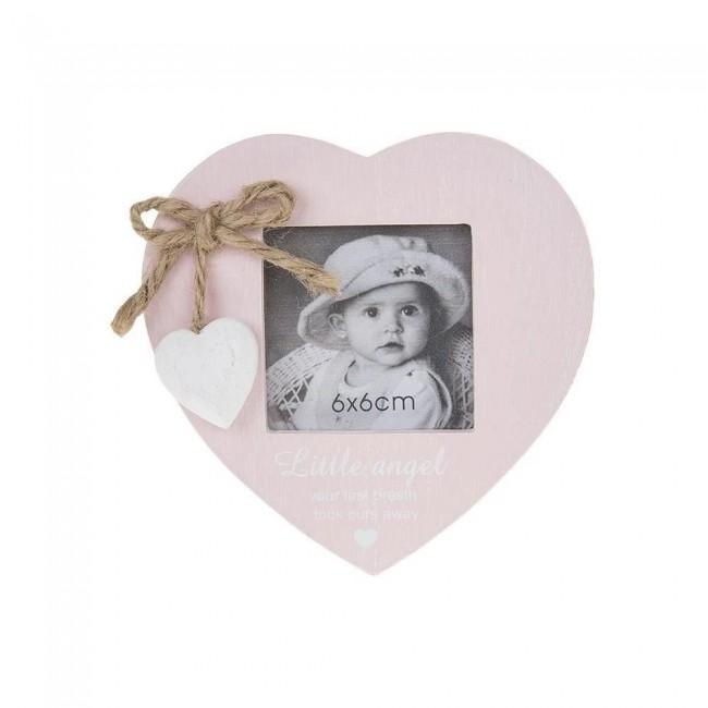 Little Angel - Rama foto inimioara roz