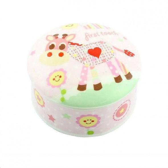 Little Sunshine - Cutiuta roz din ceramica pentru primul dintisor