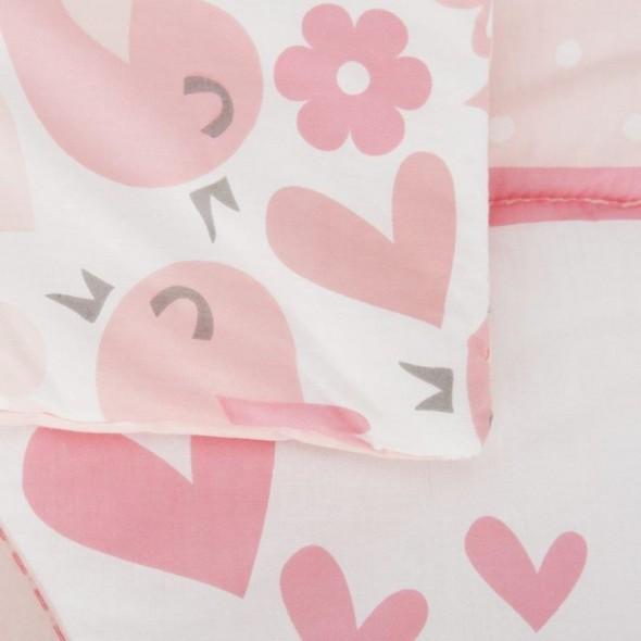 Set de pat 2 piese pentru bebelusi Comfi Dreams Lovebirds