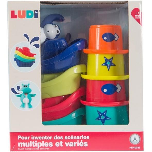 Jucarie de baie Mini Monkey Ludi
