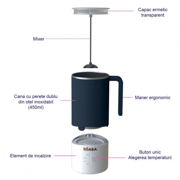 Preparator lapte MilkPrep night and blue Beaba