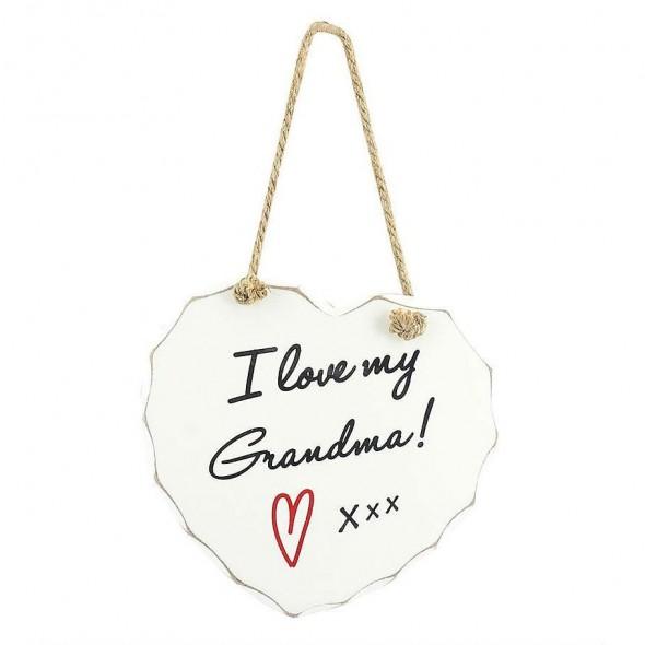 Placuta cu mesaj I love my Grandma