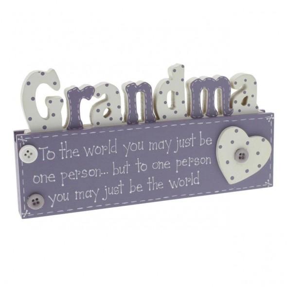 Placuta decorativa pentru bunica