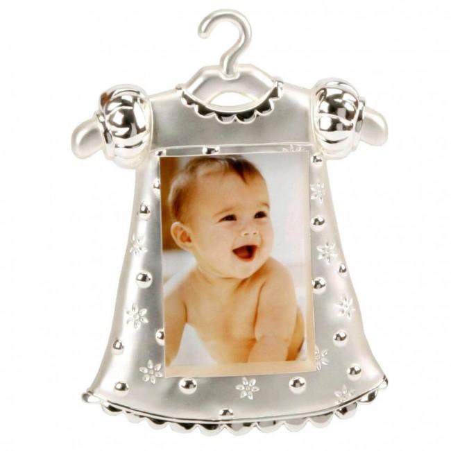 Rama foto argintata costum fetita
