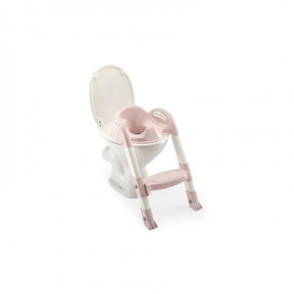 Reductor pentru toaleta cu scarita Kiddyloo Powder Pink