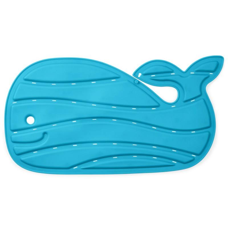 Moby Covoras de baie antiderapant albastru in forma de balena Skip Hop krbaby.ro