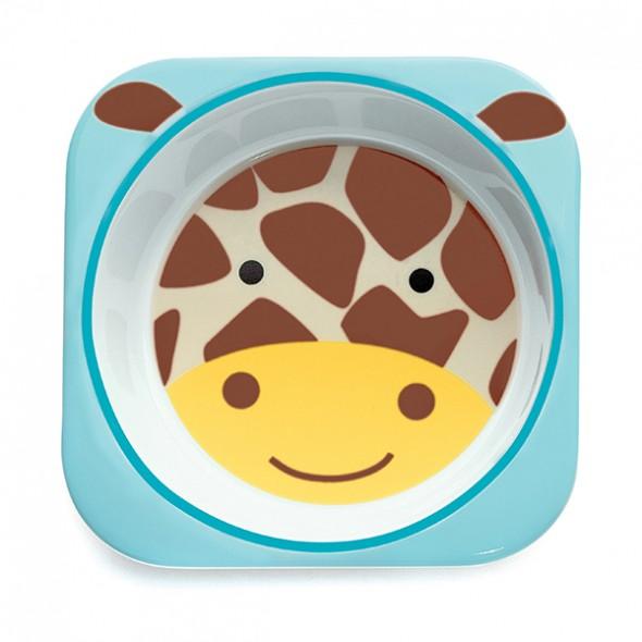 Set farfurie si bol girafa Skip Hop