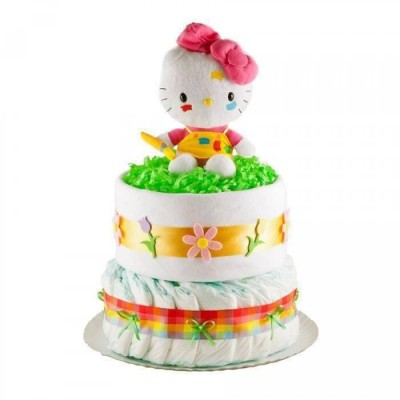 Tort din scutece Pampers - Hello Kitty