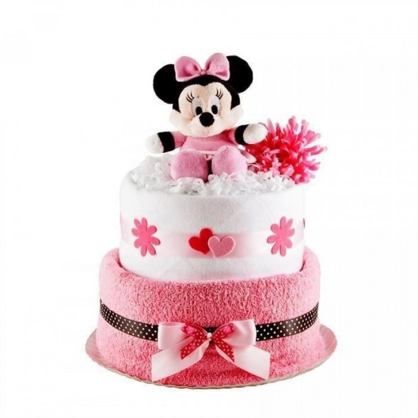 Tort din scutece Pampers - Minnie Mouse