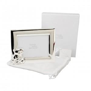 Twinkle Twinkle - Rama foto argintata lanscape cu ursulet