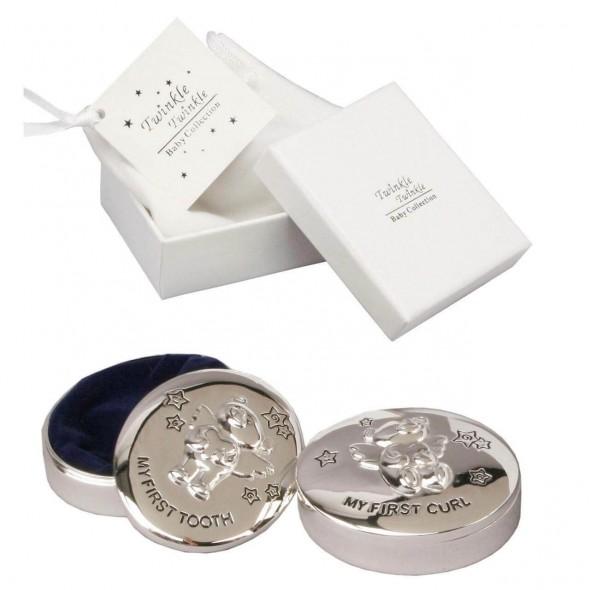 Twinkle Twinkle - Set cutiute argintate pentru prima suvita si primul dintisor